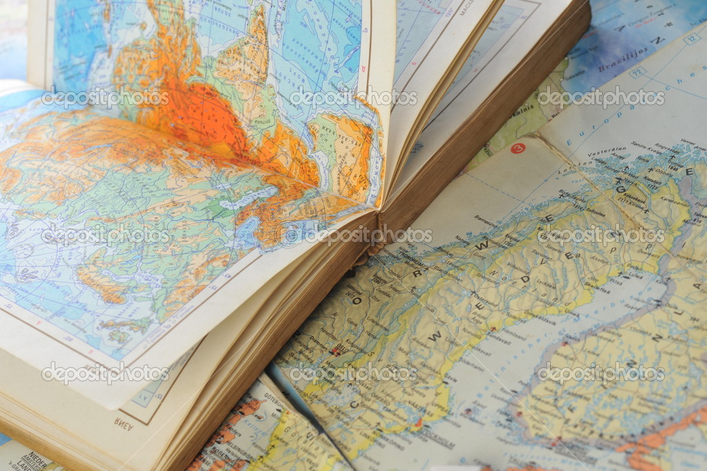 atlas book on  map