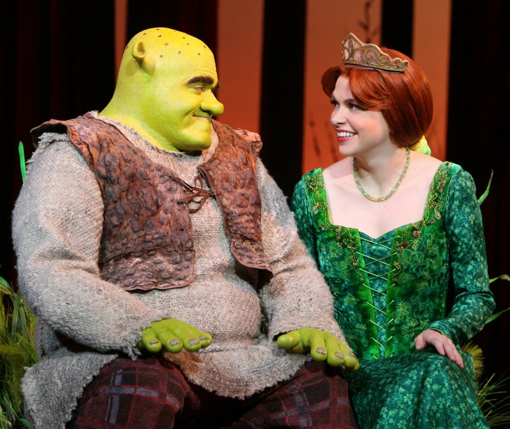 Pictured: Brian d?Arcy James (Shrek) & Sutton Foster (Princess Fiona)